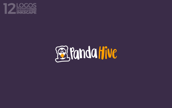 A logo design depicting a panda and a hive