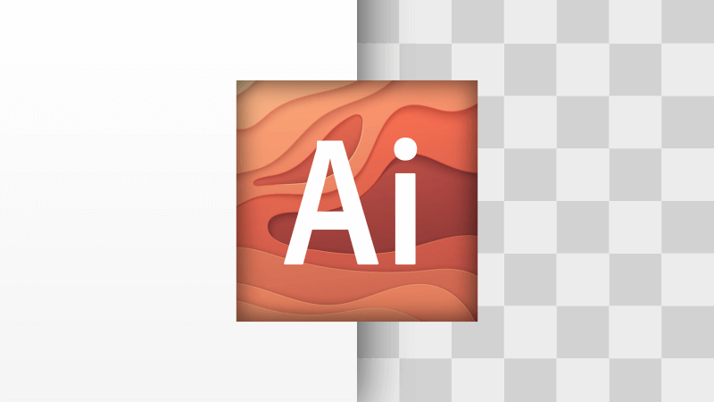 Remove a white background with Adobe Illustrator