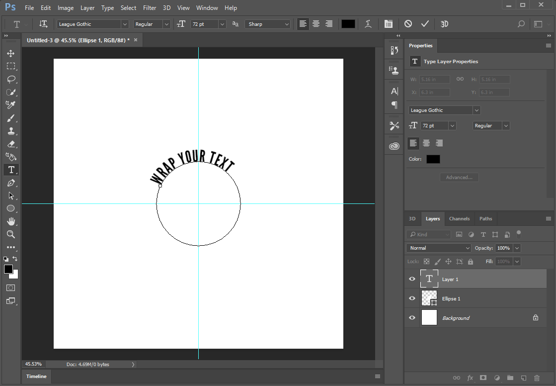 Text on outer edge of circle