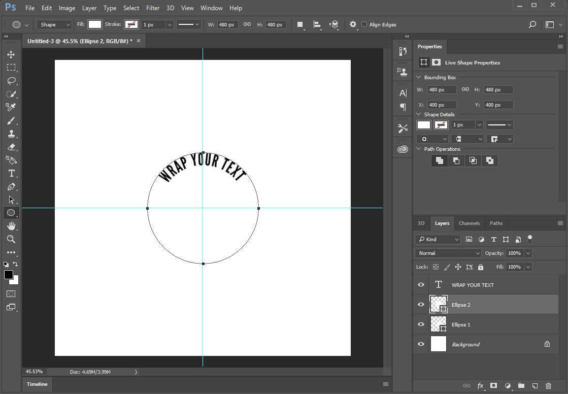 New circle on a new layer