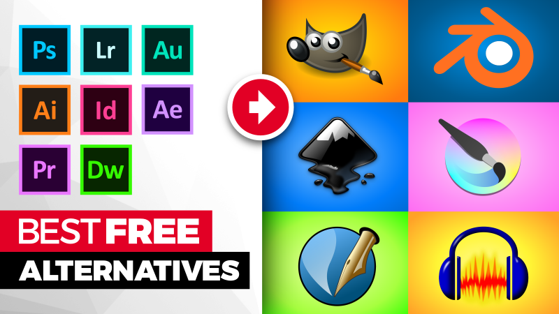 Best free alternatives to Adobe software