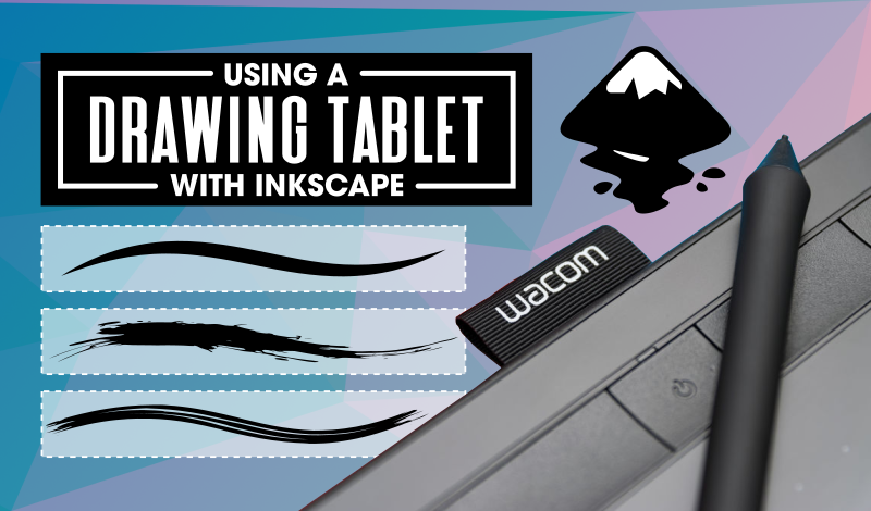 How to use a drawing tablet in Inkscape