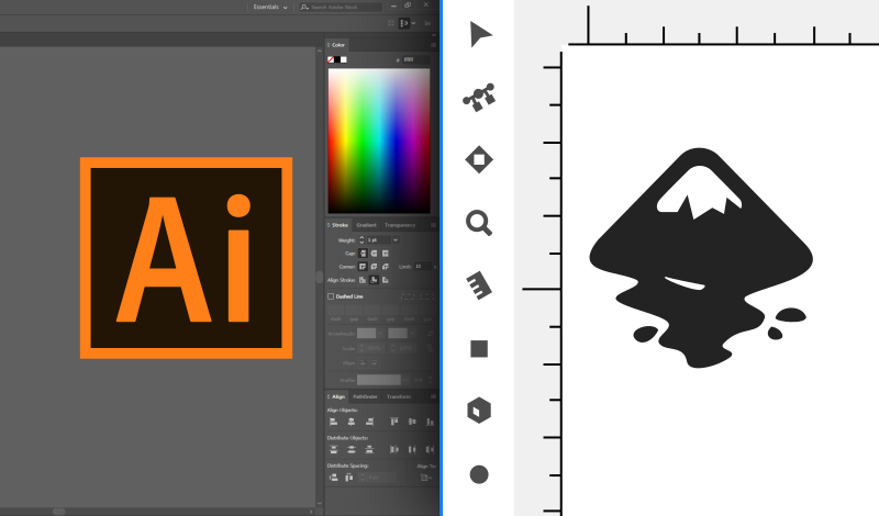 Illustrator vs Inkscape