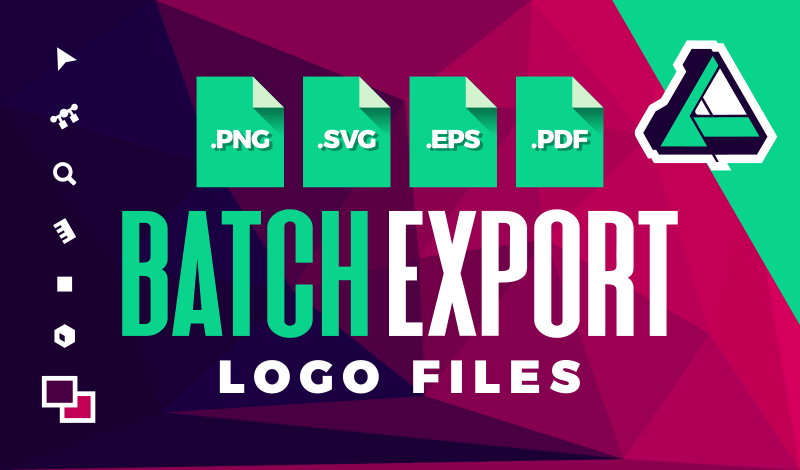 Batch export files with Affinity Designer