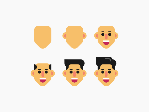 Designing a face in Inkscape