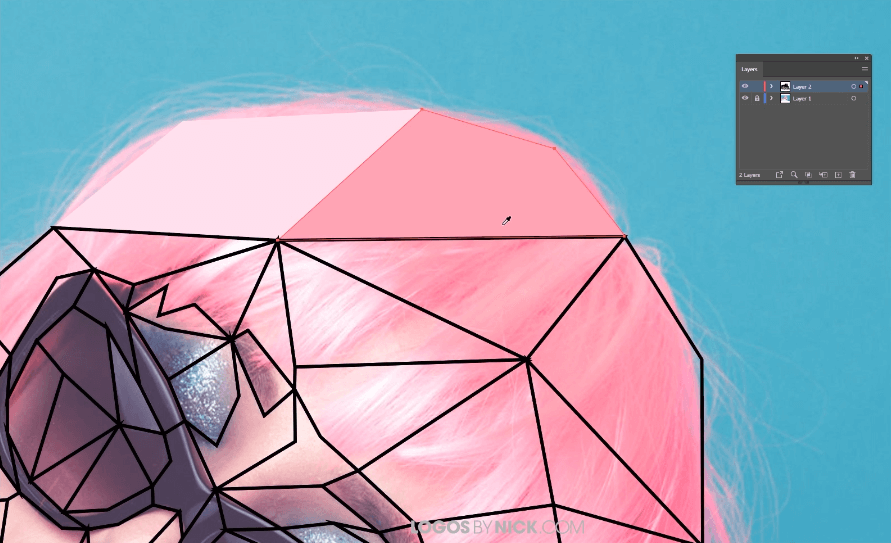 Filled in polygon