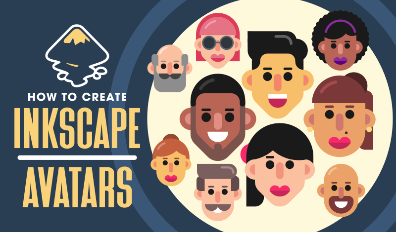 Free vector avatars for Inkscape