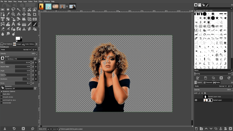 Cropping detailed objects like hair
