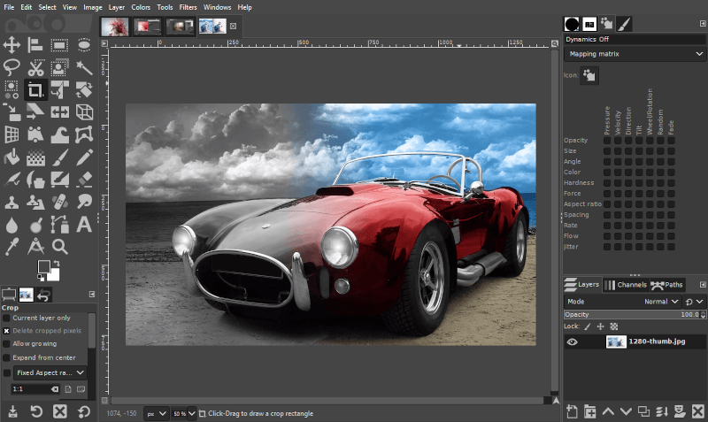 Restoring color to black and white photos