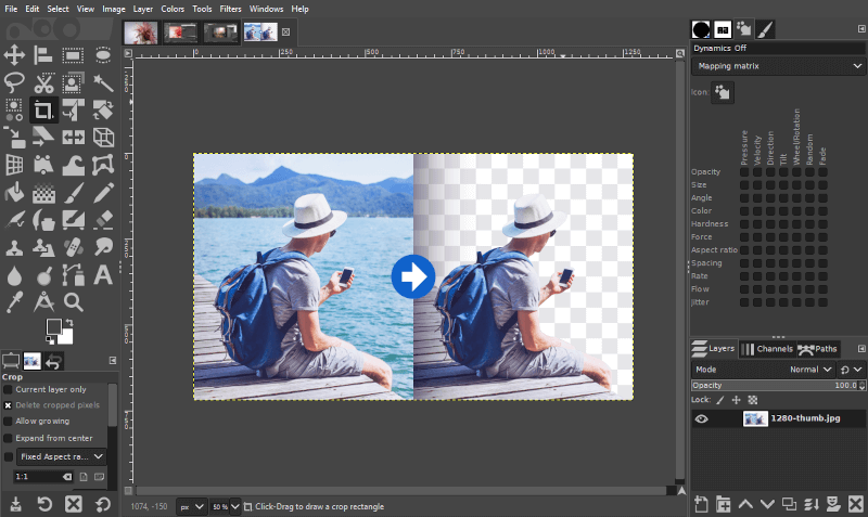 Removing a background