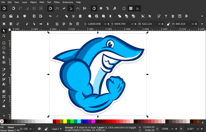 Character illustration made with Inkscape