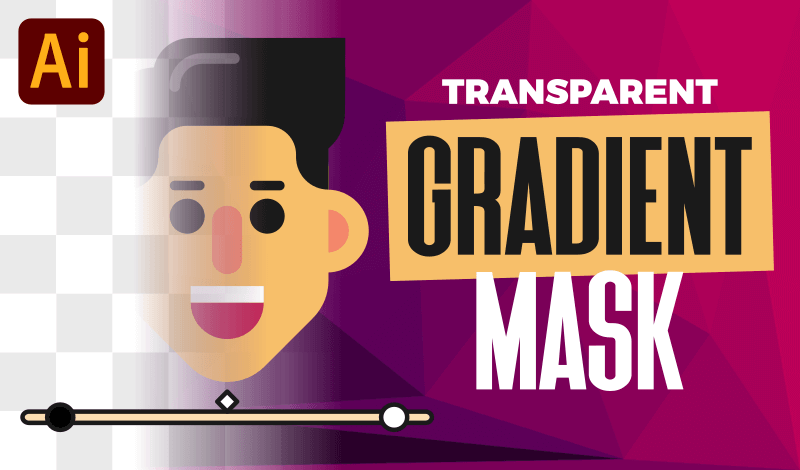 Create a transparent gradient mask with Illustrator
