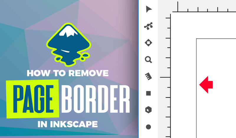 How to remove the page border in Inkscape