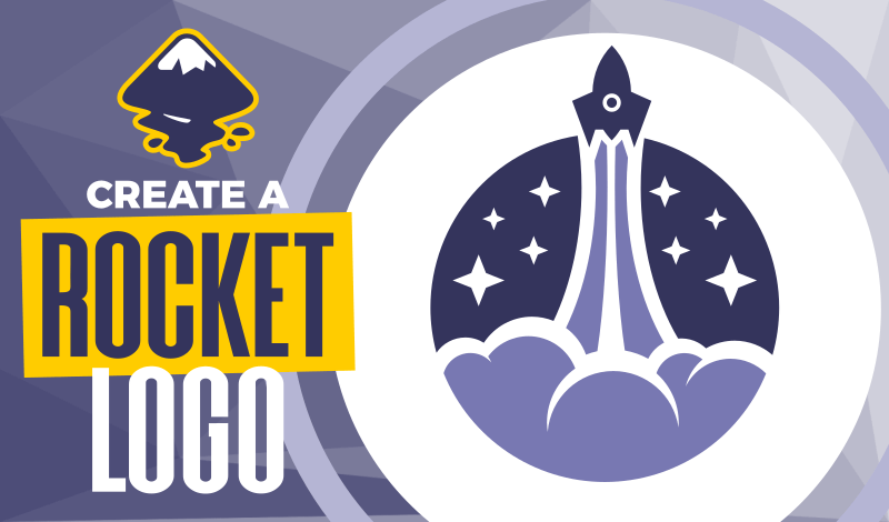 Create a rocket logo design with Inkscape