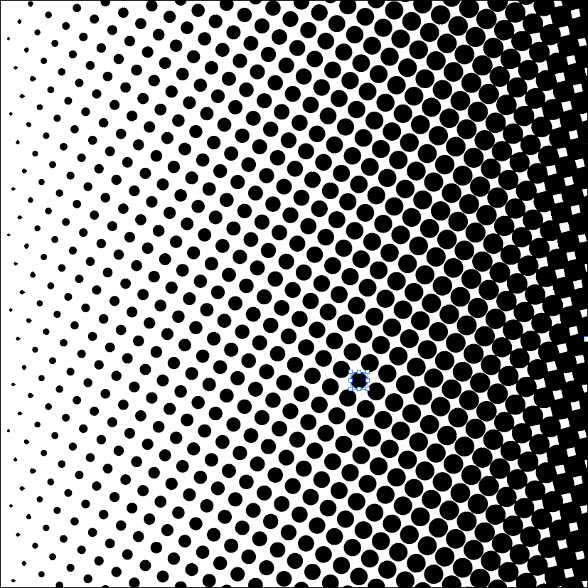 Vector tracing of the halftone pattern