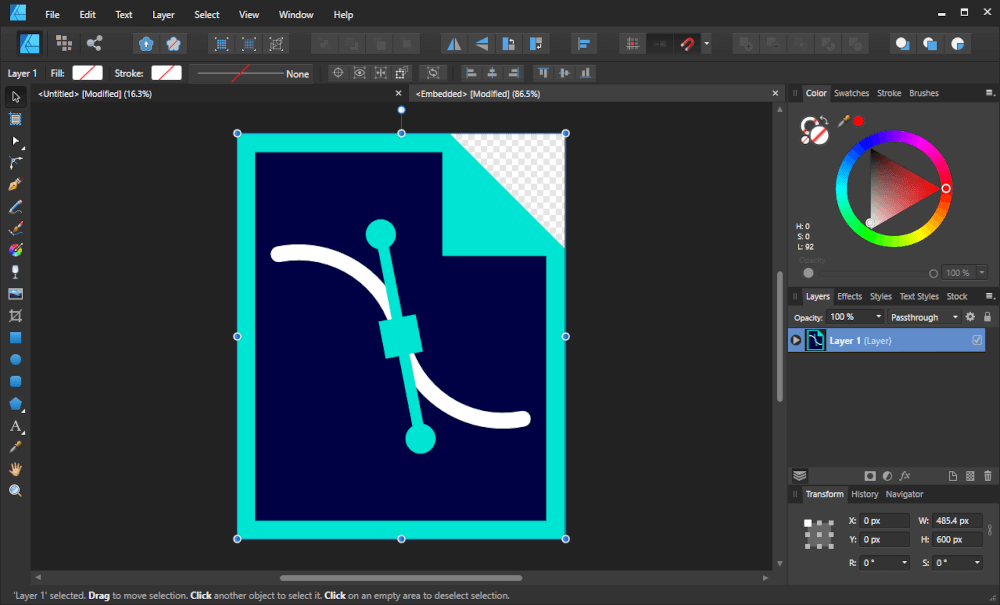 SVG file opened in a separate tab