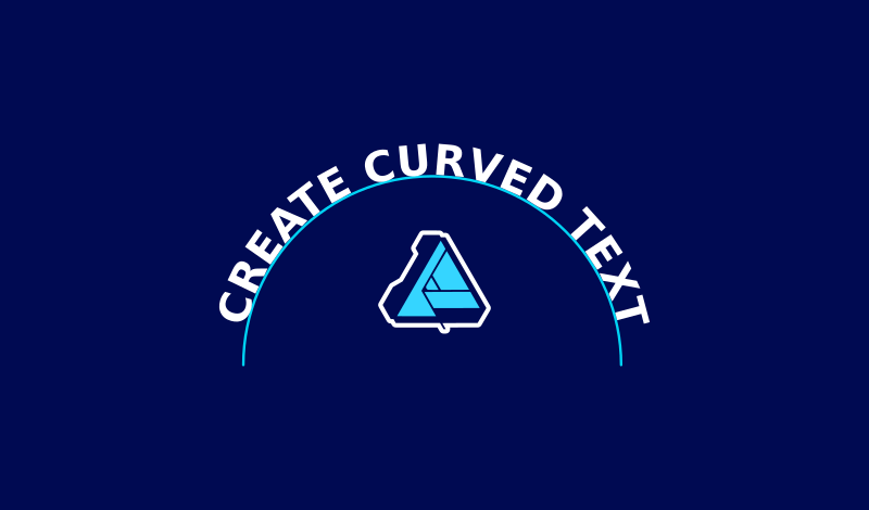 How to curve text with Affinity Designer