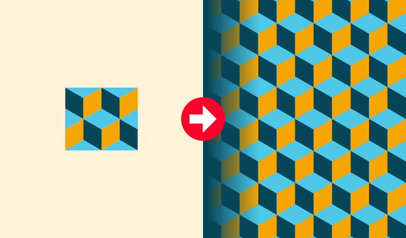 How to pattern fill with Affinity Designer
