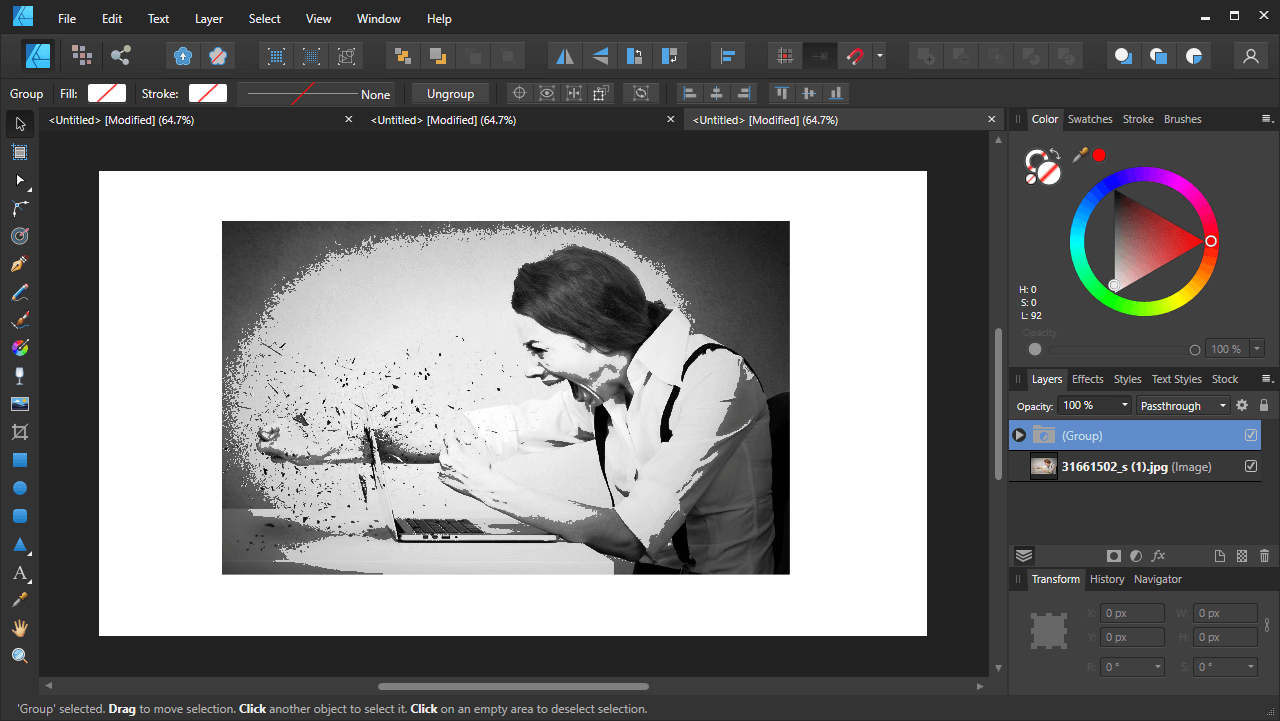Adjustment layers group