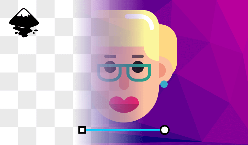 Create an opacity mask with Inkscape