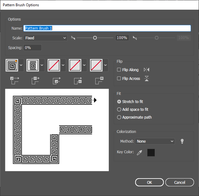 Pattern Brushes Options