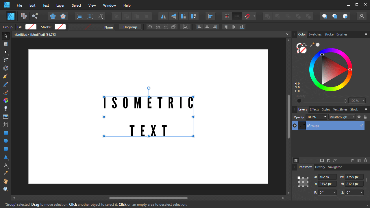 Generated text