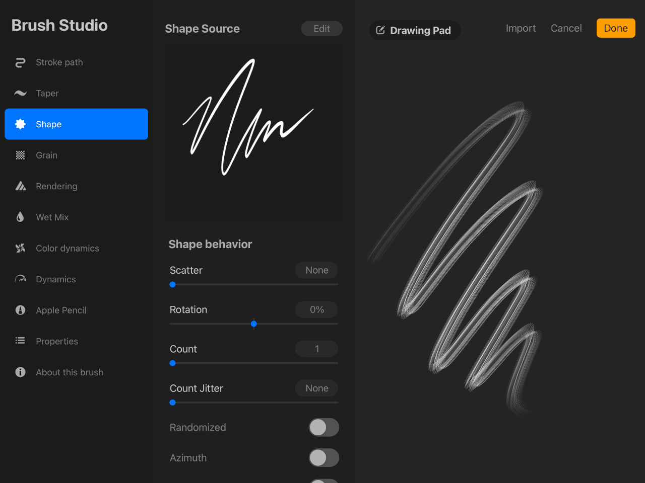 Signature pasted as a brush