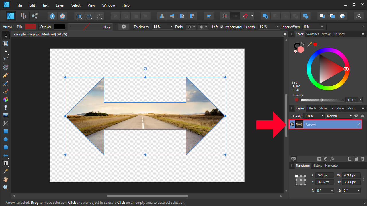 Clipping path layer