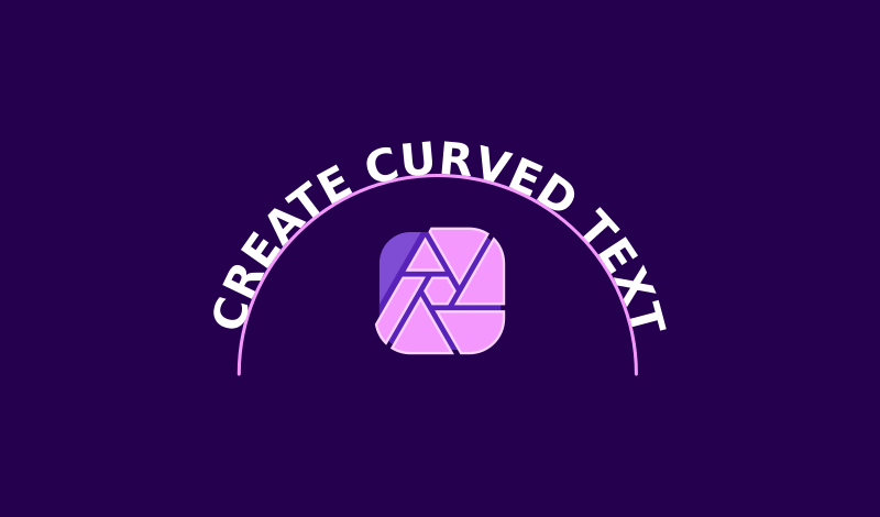 Curve text with Affinity Photo