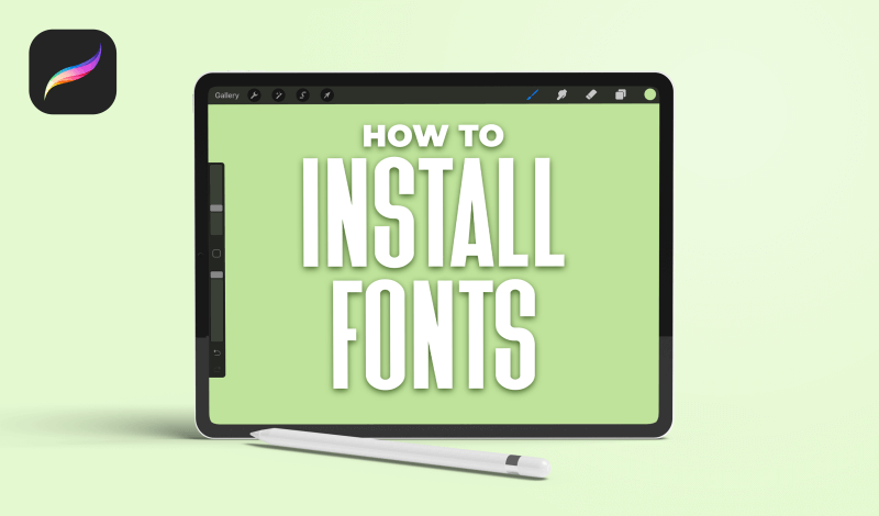 Install fonts in Procreate
