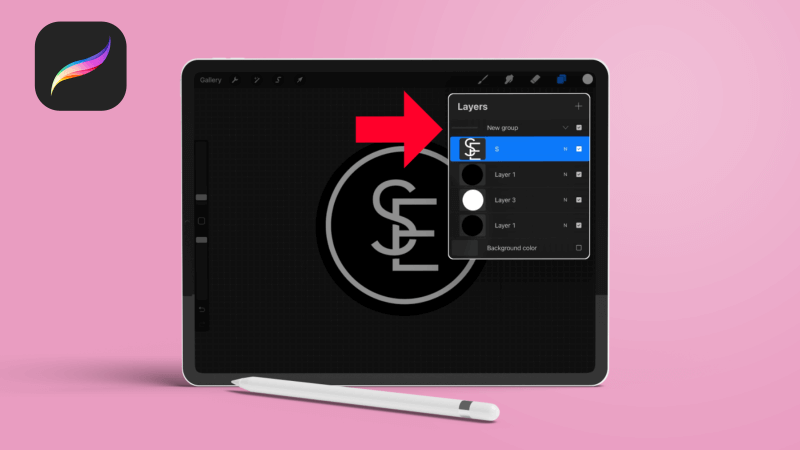 How to group layers in Procreate
