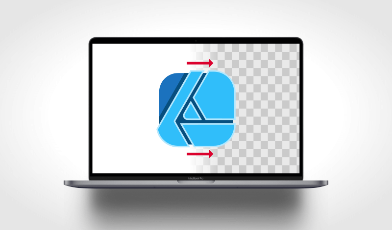 Export a PNG with a transparent background in Affinity Designer