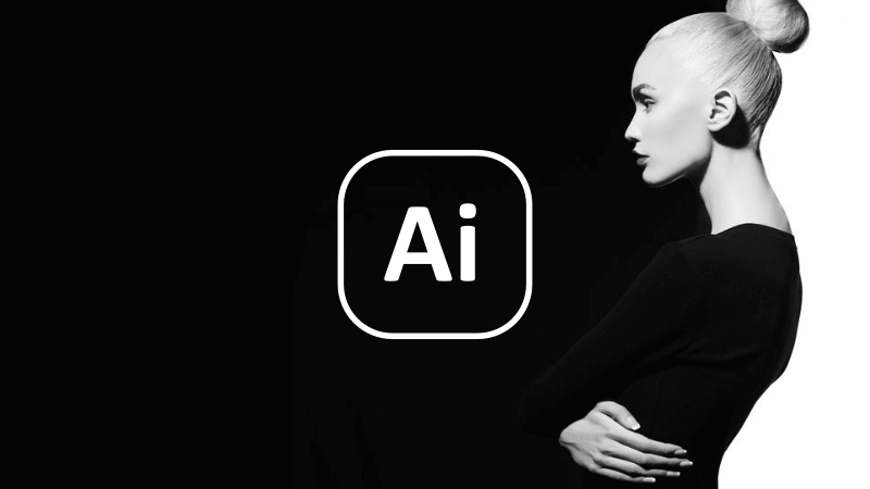 Make an image black and white with Illustrator