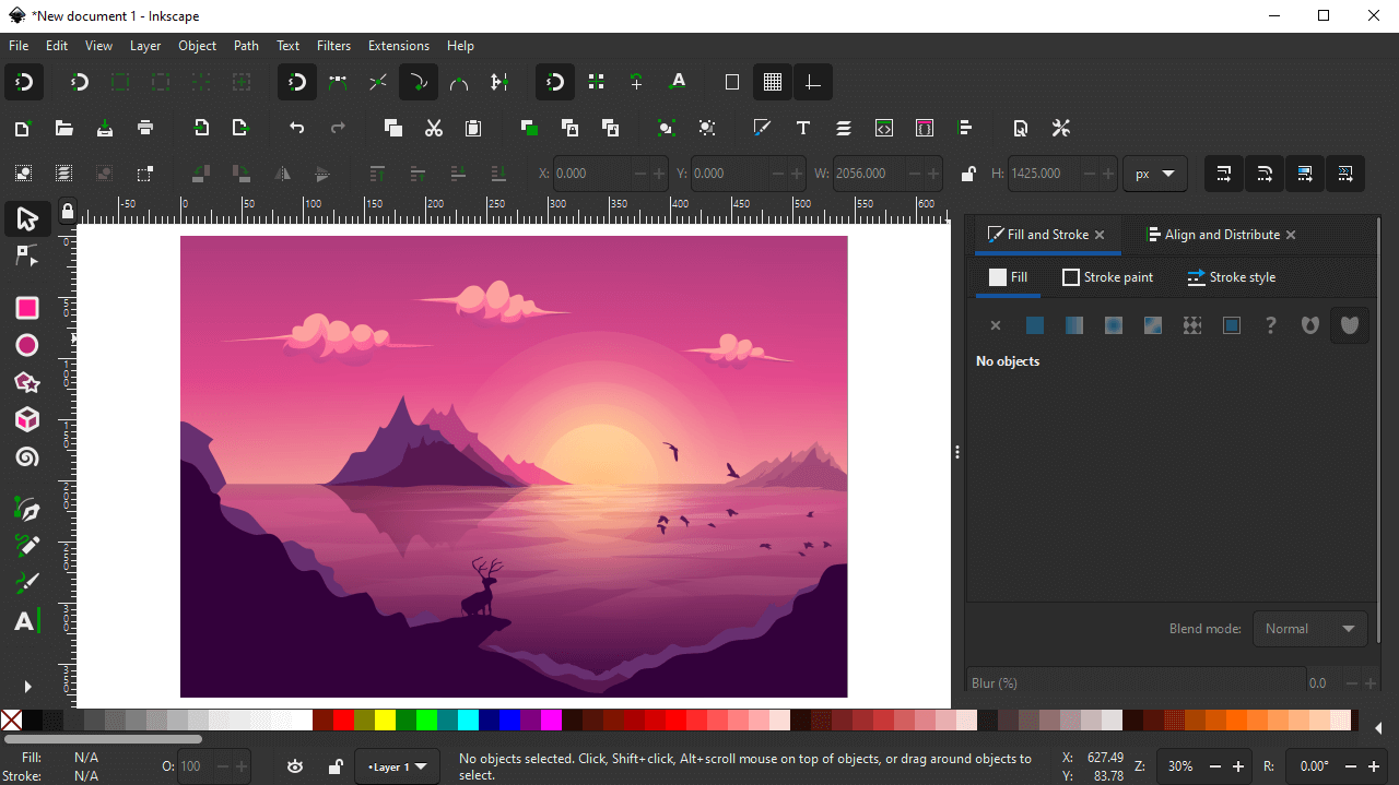 Import image into Inkscape