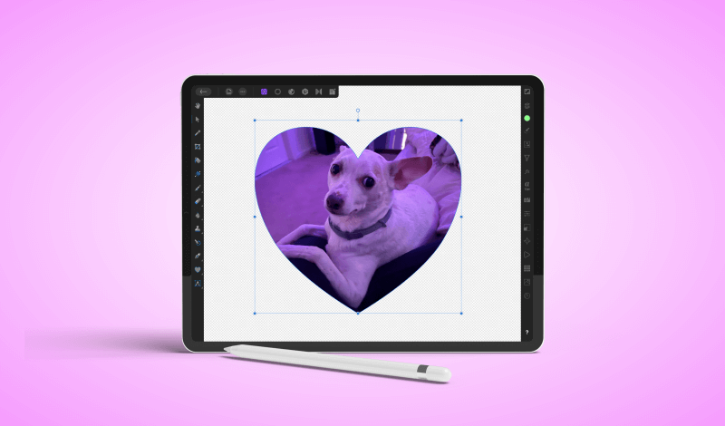 Create a clipping mask with Affinity Photo for iPad