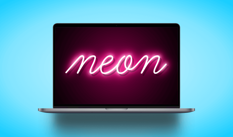 Create a neon text effect with Affinity Designer