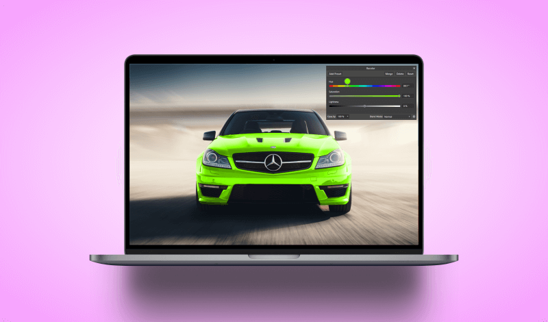 Change an image's color in Affinity Photo