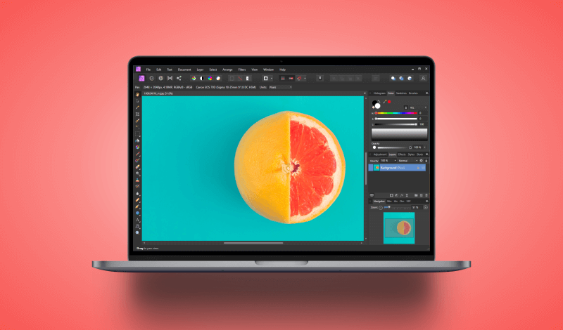 How to free transform with Affinity Photo