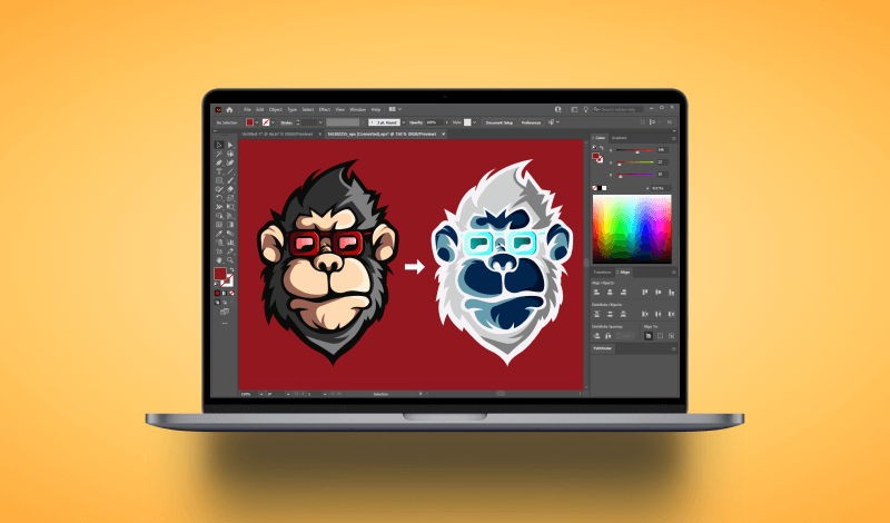 How to invert colors in Illustrator