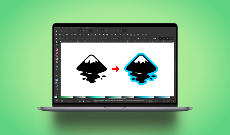 Offset a path in Inkscape