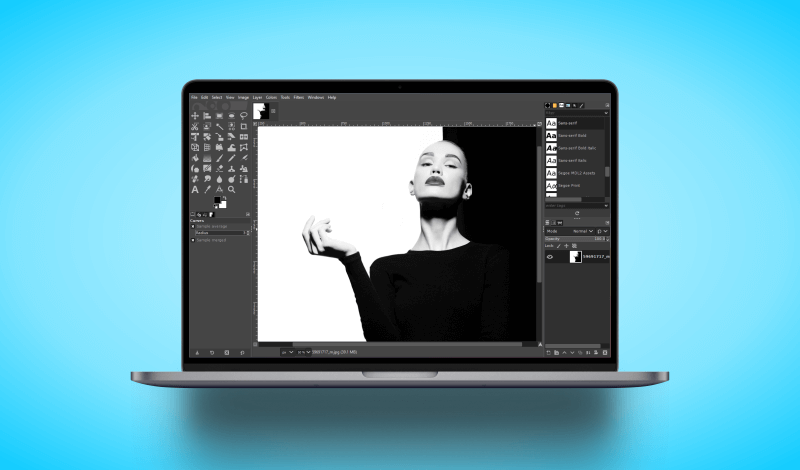 Make an image black and white with GIMP