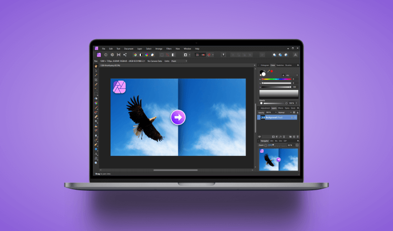 Remove an object in Affinity Photo